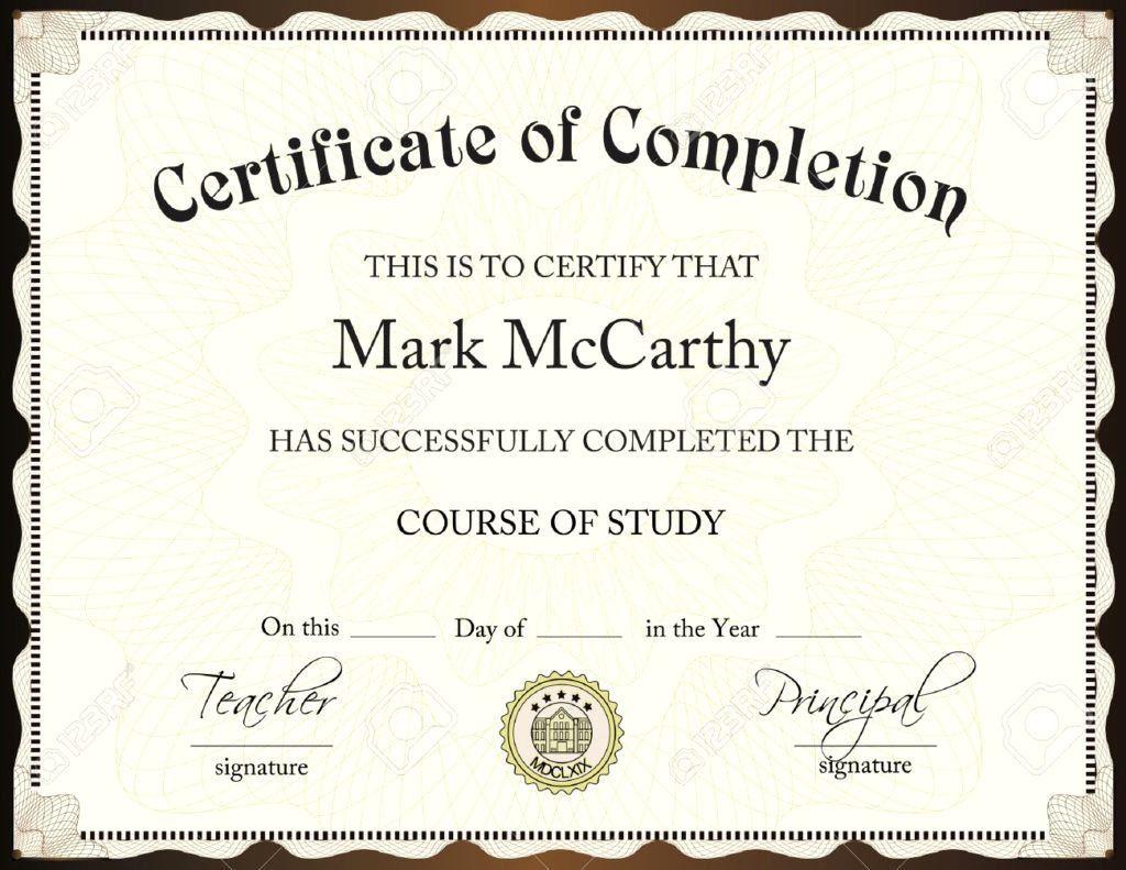 002 Impressive Degree Certificate Template Word Photo Full