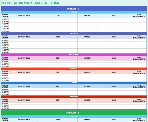 002 Impressive Digital Marketing Plan Template Free Concept  Ppt Download480