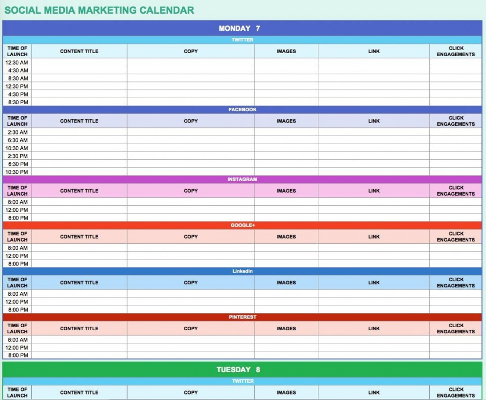 002 Impressive Digital Marketing Plan Template Free Concept  Ppt Download960