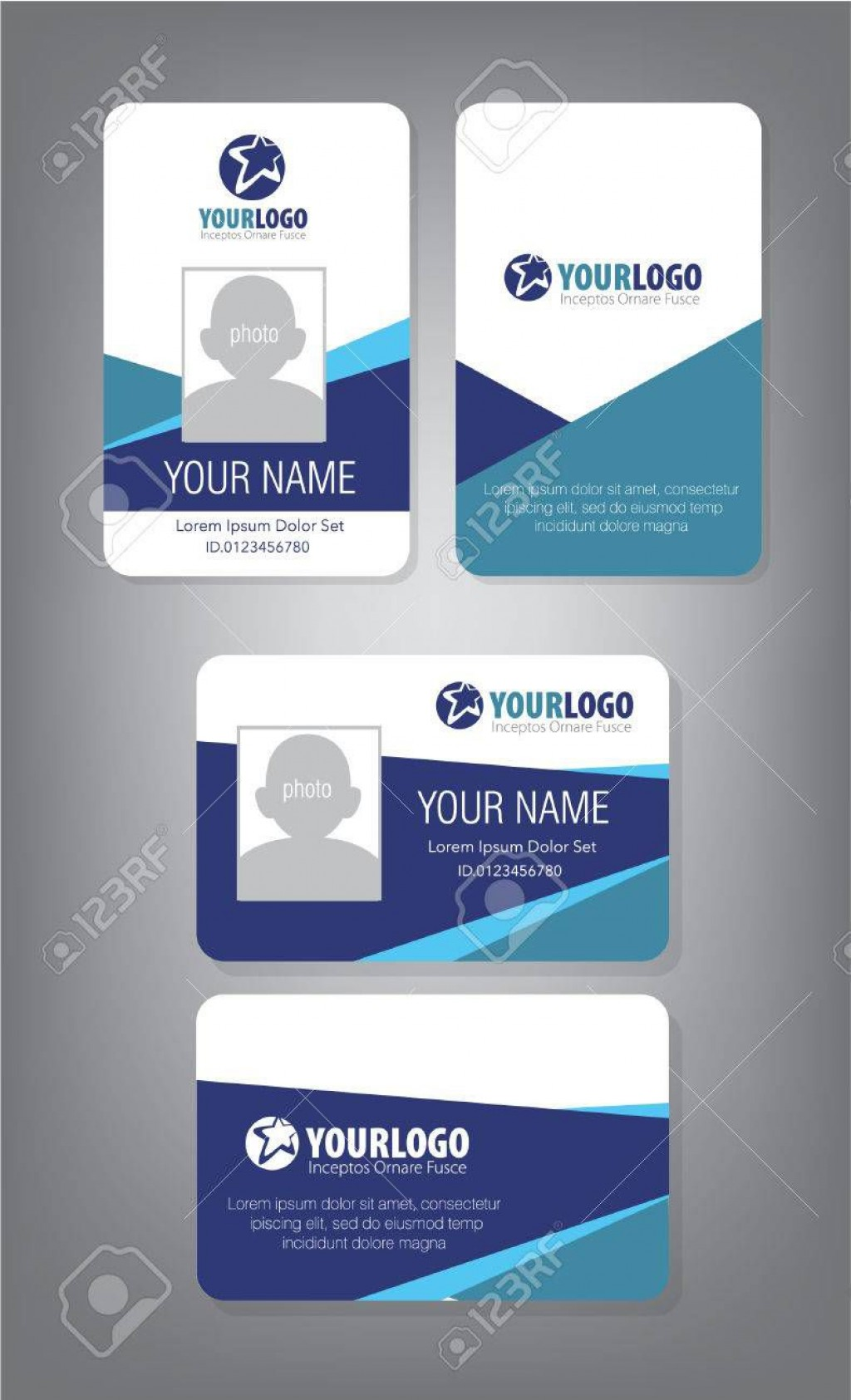 002 Impressive Employee Id Card Template Inspiration  Free Download Psd WordLarge