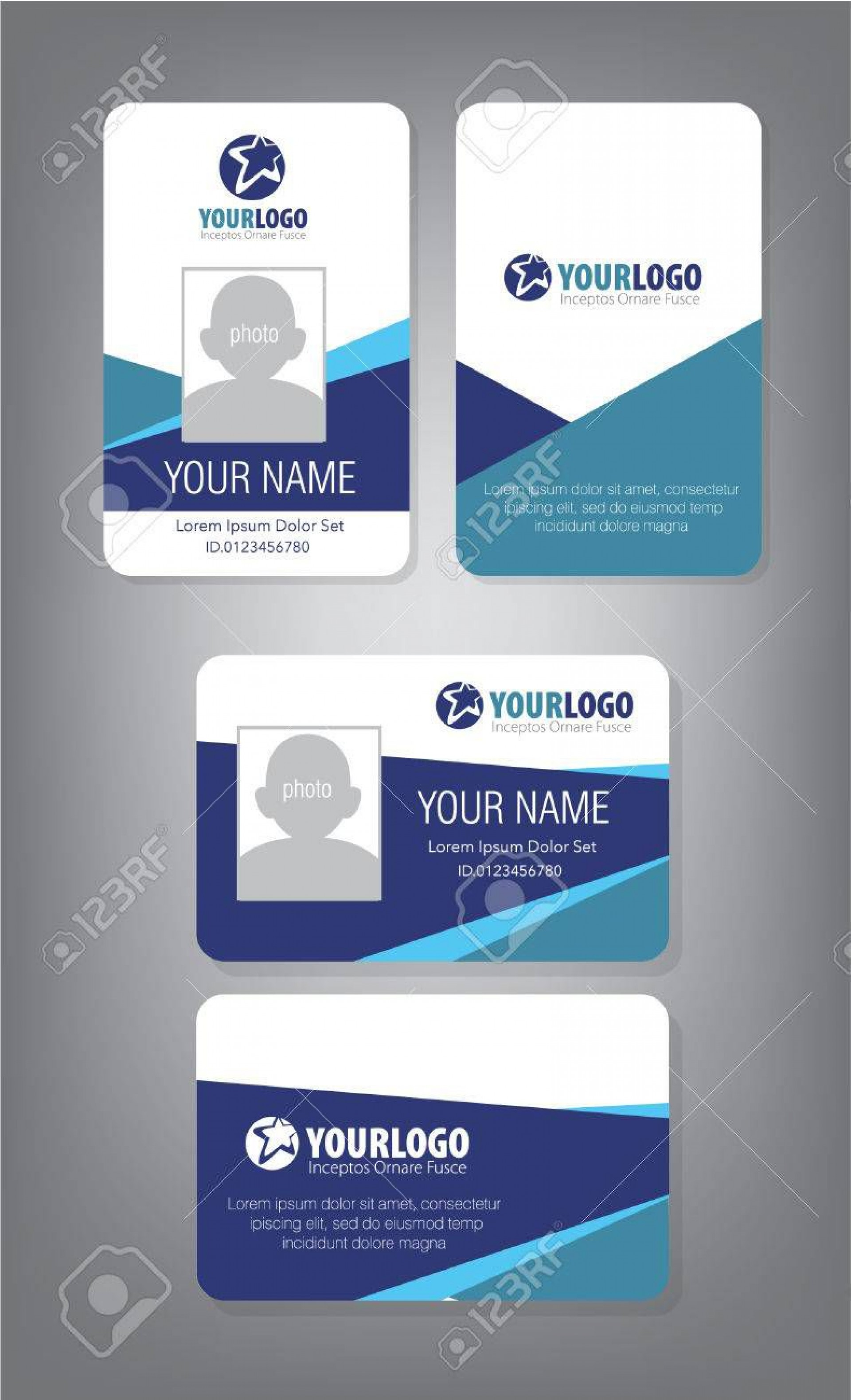 002 Impressive Employee Id Card Template Inspiration  Free Download Psd Word1920