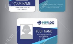 002 Impressive Employee Id Card Template Inspiration  Free Download Psd Word