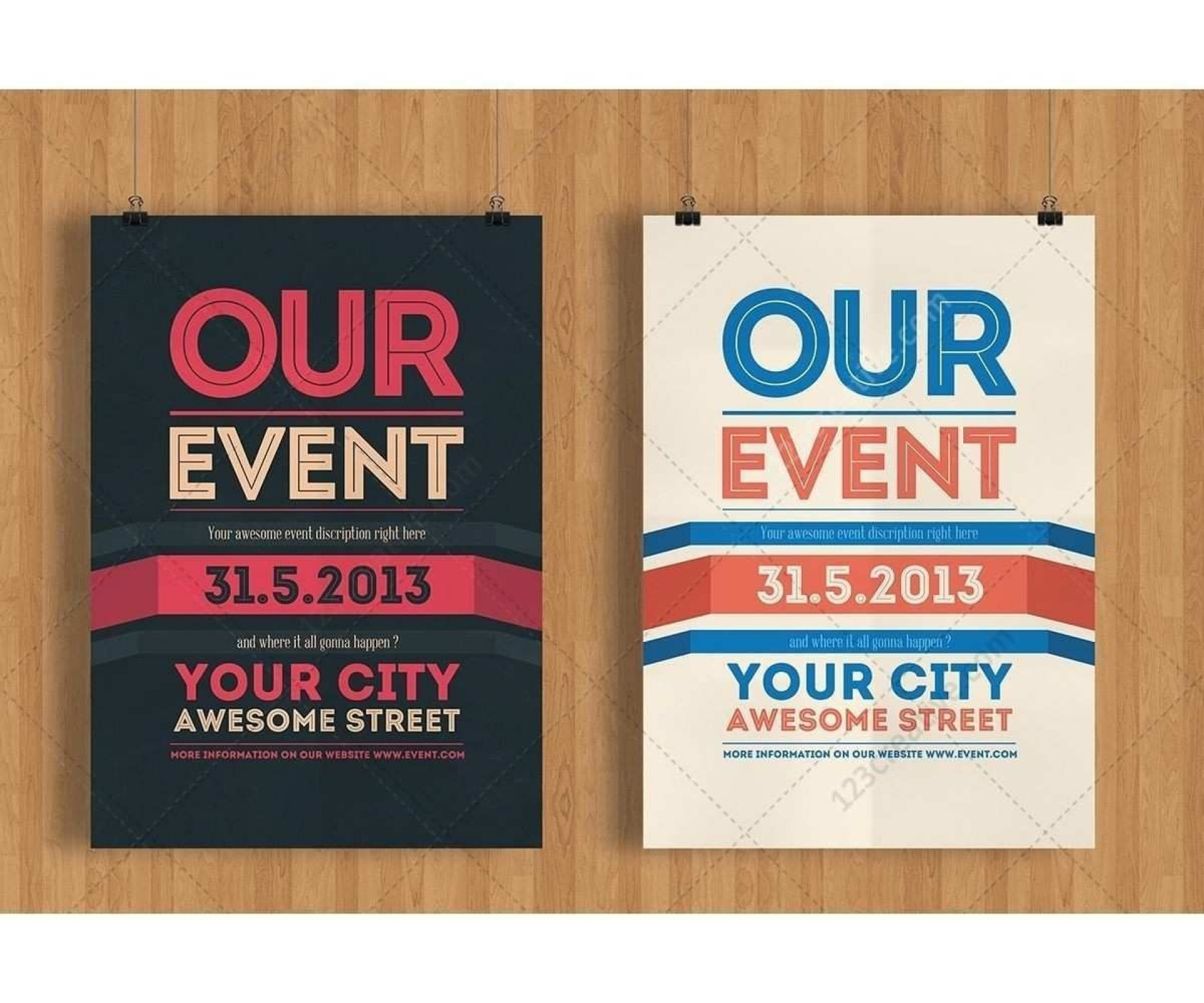 002 Impressive Event Flyer Template Free High Def  Word Download Psd1920