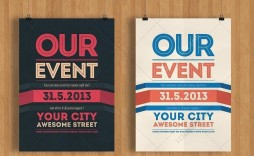 002 Impressive Event Flyer Template Free High Def  Word Download Psd