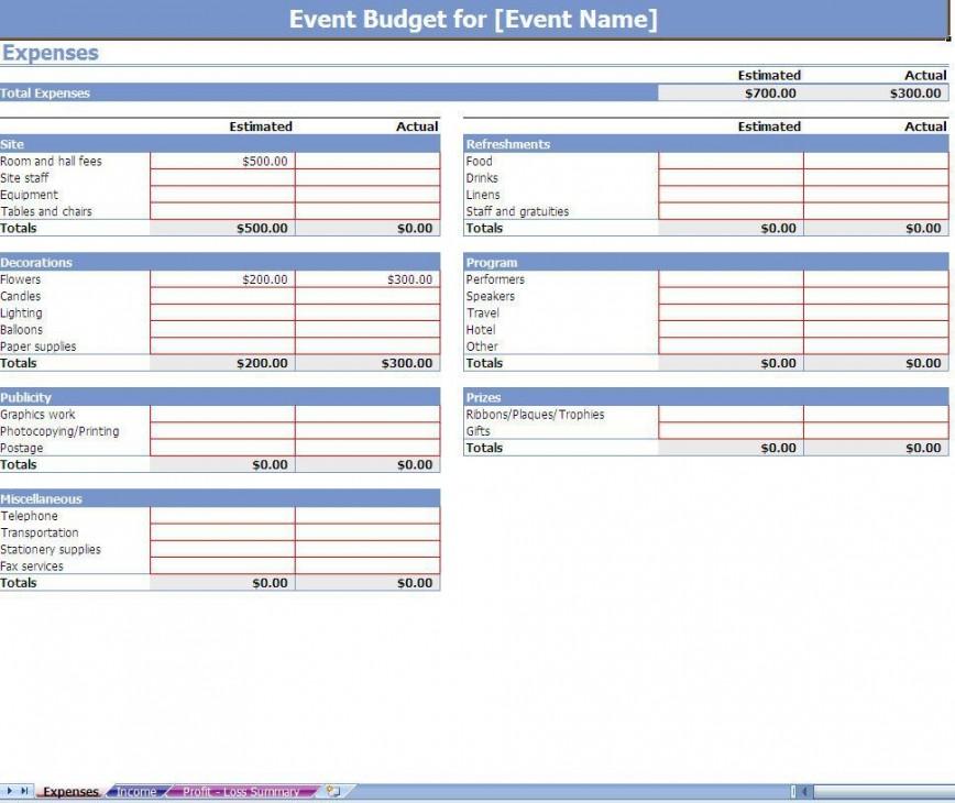 002 Impressive Event Planning Budget Worksheet Template Picture  Free Download Planner Spreadsheet868