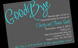 002 Impressive Farewell Party Invitation Template Free Image  Email Printable Word