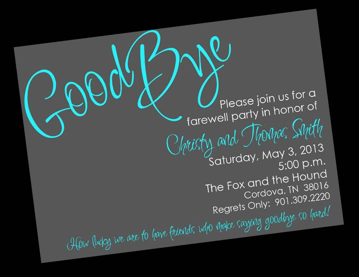 002 Impressive Farewell Party Invitation Template Free Image  Email Printable WordFull