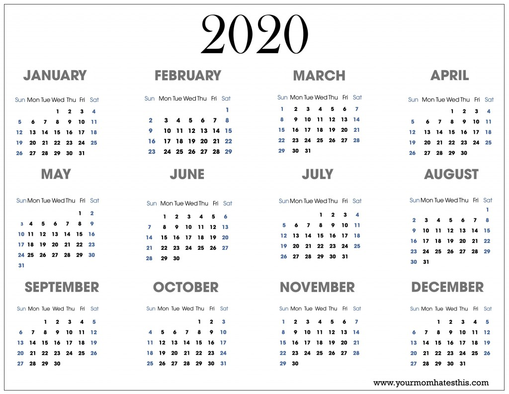 002 Impressive Free 2020 Calendar Template Idea  Templates Monthly Excel Download Printable MayLarge
