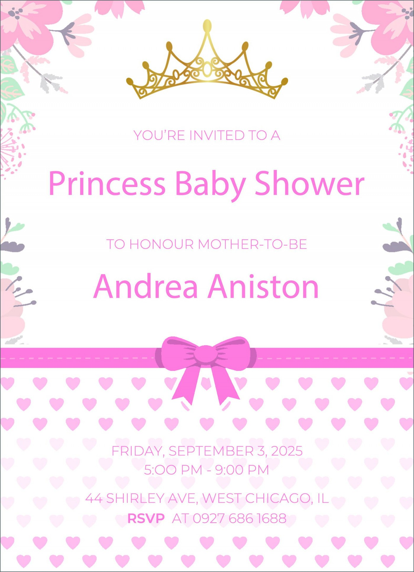 002 Impressive Free Baby Shower Invitation Template High Def  Printable For A Girl Microsoft Word1400