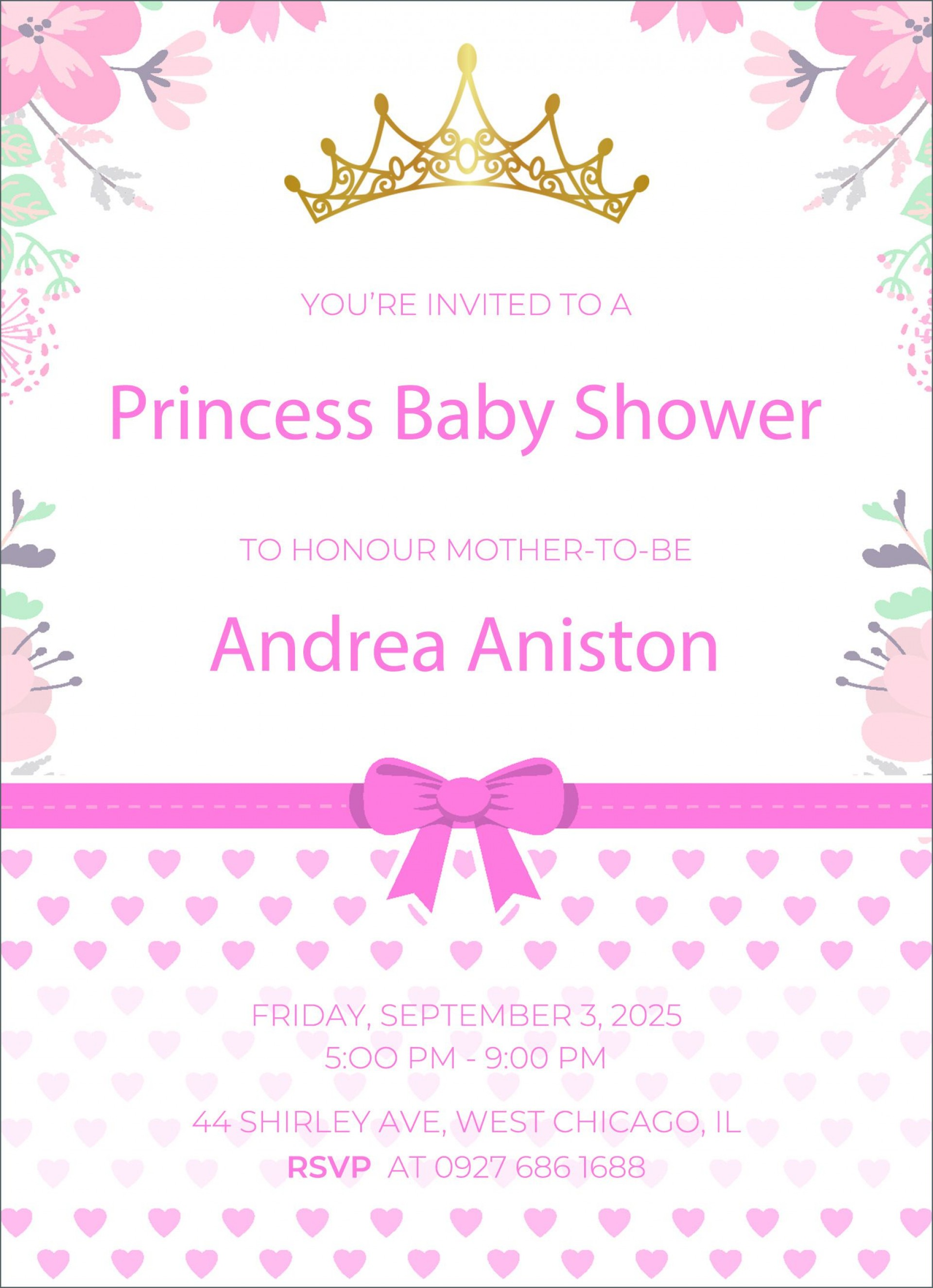 002 Impressive Free Baby Shower Invitation Template High Def  Printable Editable Microsoft Word To Print1920