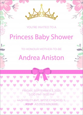 002 Impressive Free Baby Shower Invitation Template High Def  Printable For A Girl Microsoft Word320