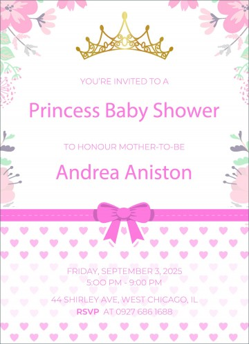002 Impressive Free Baby Shower Invitation Template High Def  Printable For A Girl Microsoft Word360