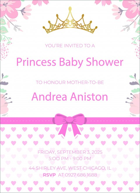 002 Impressive Free Baby Shower Invitation Template High Def  Printable For A Girl Microsoft Word480