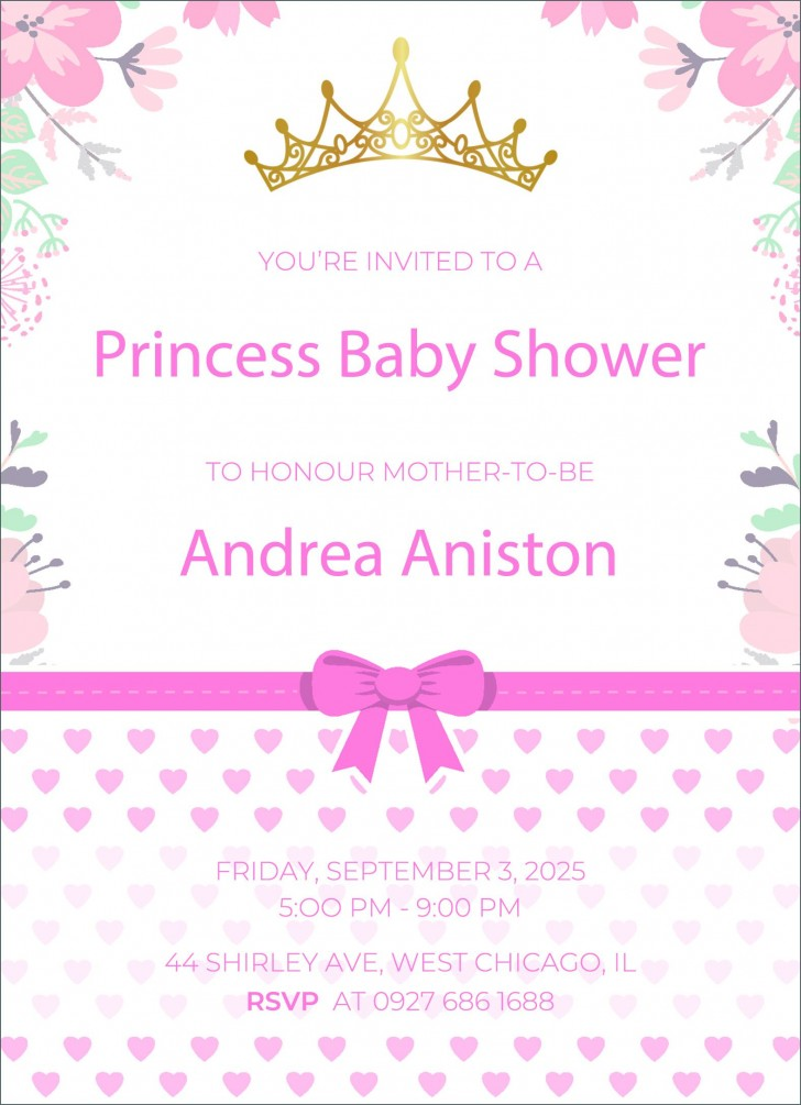002 Impressive Free Baby Shower Invitation Template High Def  Printable For A Girl Microsoft Word728