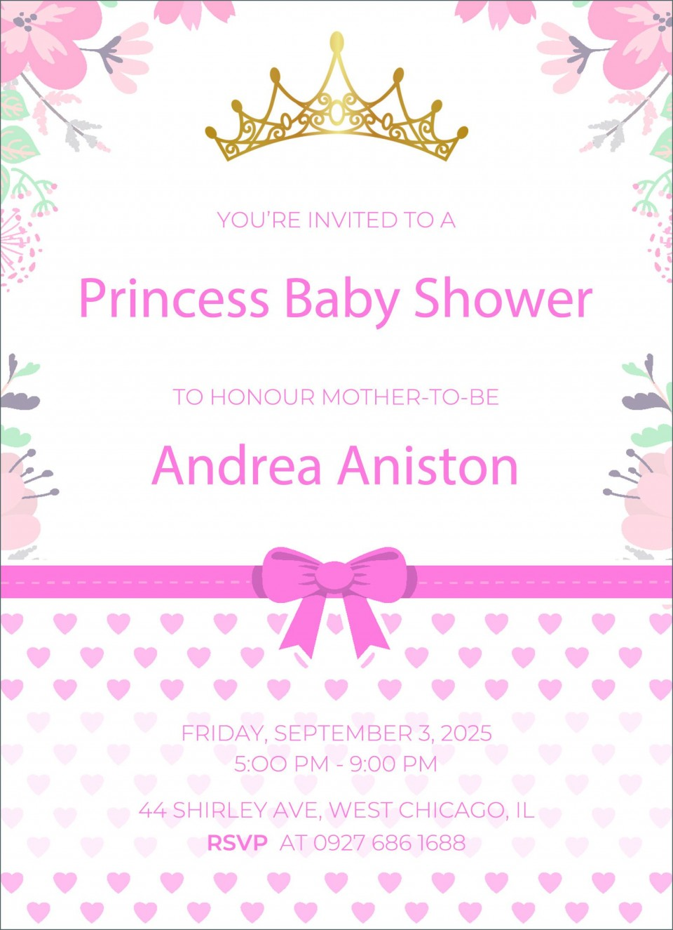 002 Impressive Free Baby Shower Invitation Template High Def  Printable For A Girl Microsoft Word960