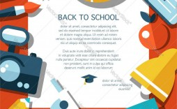 002 Impressive Free Back To School Flyer Template Word Picture