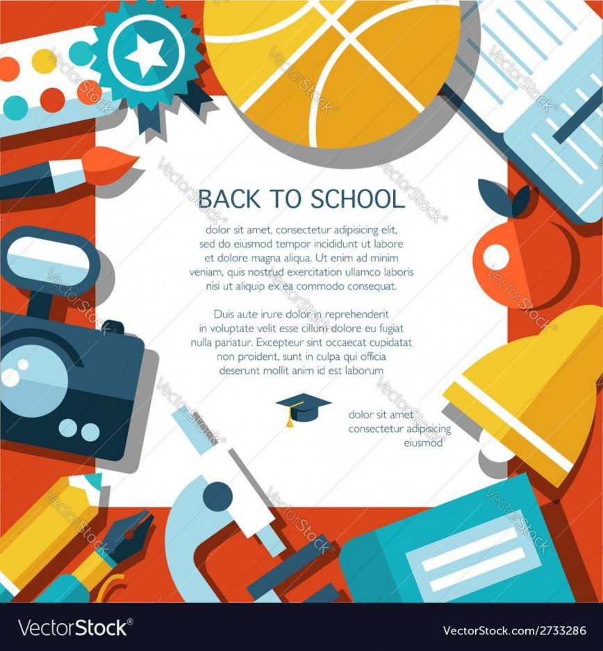 002 Impressive Free Back To School Flyer Template Word Picture 868