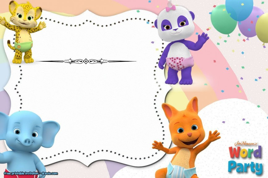 002 Impressive Free Birthday Party Invitation Template For Word Sample 868