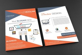 002 Impressive Free Brochure Template Psd File Front And Back Concept