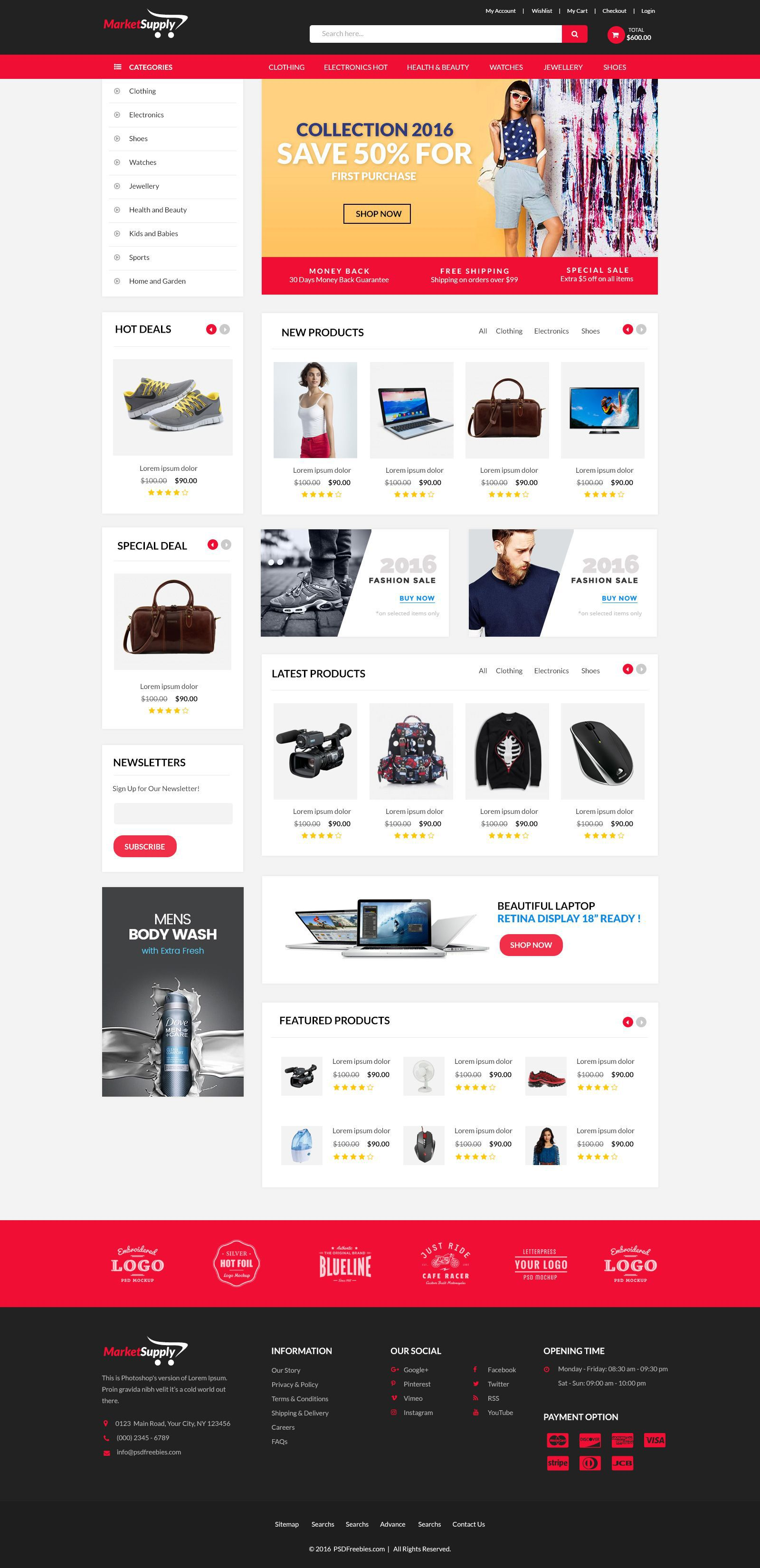 002 Impressive Free Commerce Website Template Highest Clarity  Wordpres Ecommerce Download Responsive Html CsFull