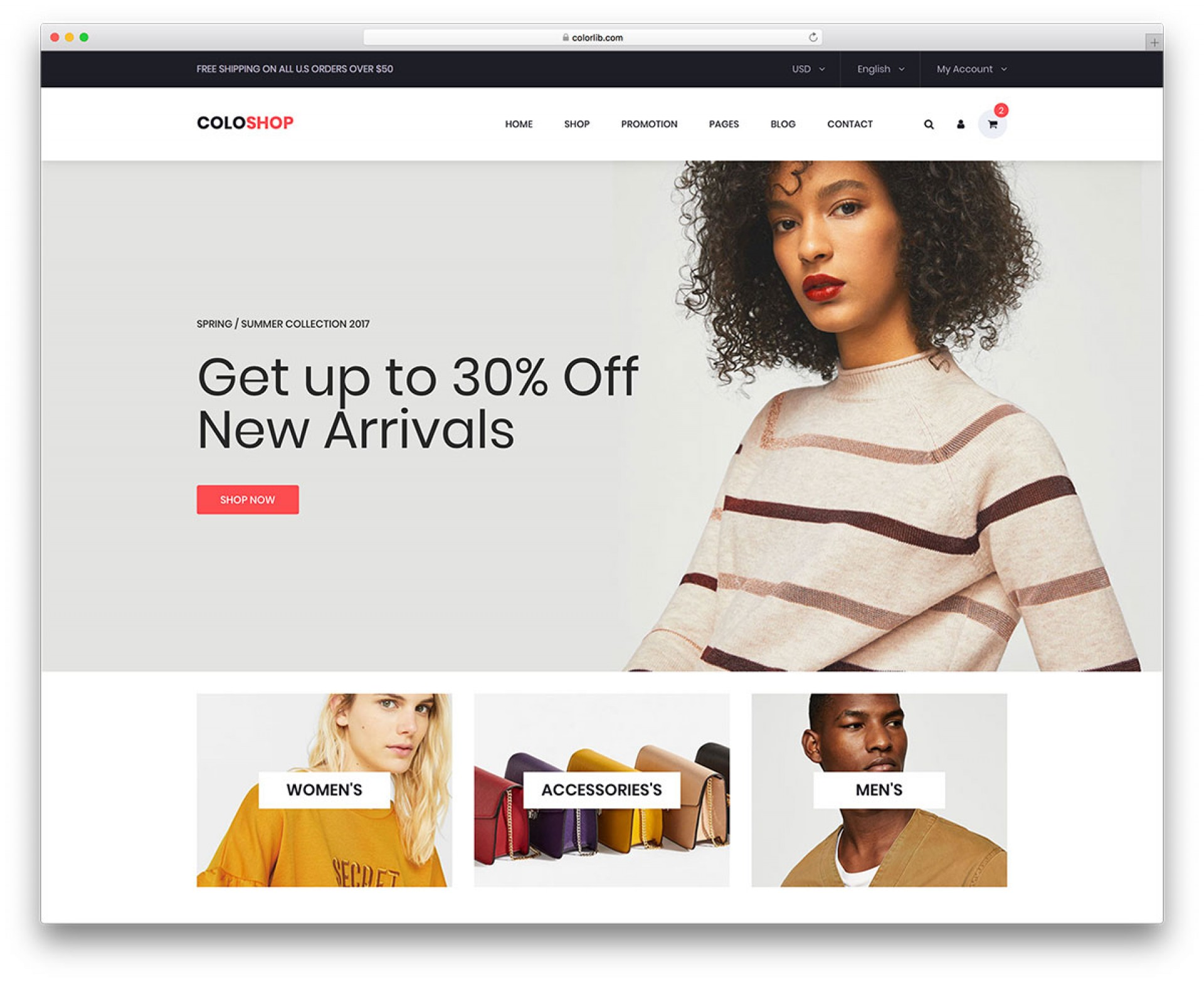 002 Impressive Free E Commerce Website Template Example  Ecommerce Html Cs Bootstrap Php1920