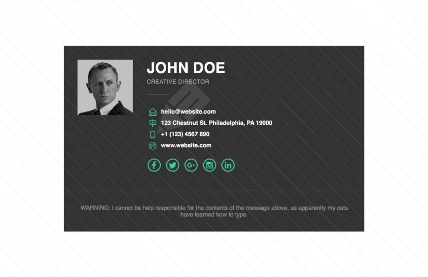 002 Impressive Free Email Signature Template Highest Quality  Templates For Outlook 365 Professional Html Download