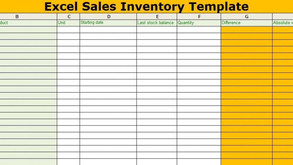 002 Impressive Free Excel Stock Inventory Template Sample  Simple960