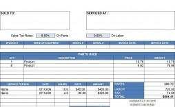 002 Impressive Free Excell Invoice Template Sample  Excel Gst India Canada Tax Australia