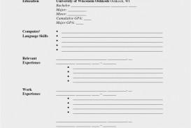 002 Impressive Free Printable Resume Template Blank Inspiration  Fill
