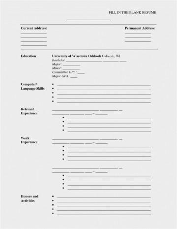 002 Impressive Free Printable Resume Template Blank Inspiration  Fill360
