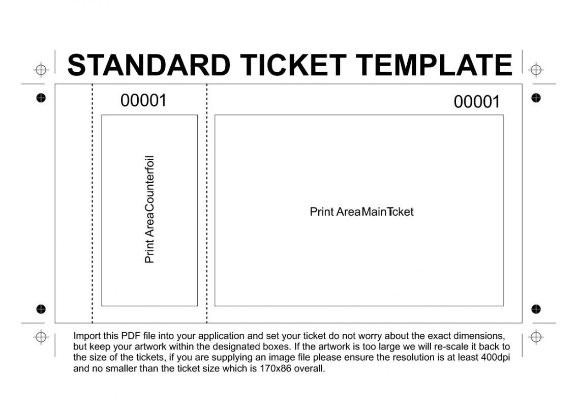 002 Impressive Free Printable Ticket Template Sample  Raffle Printing Airline For Gift ConcertFull