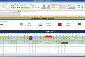 002 Impressive Free Rotating Staff Shift Schedule Excel Template Image