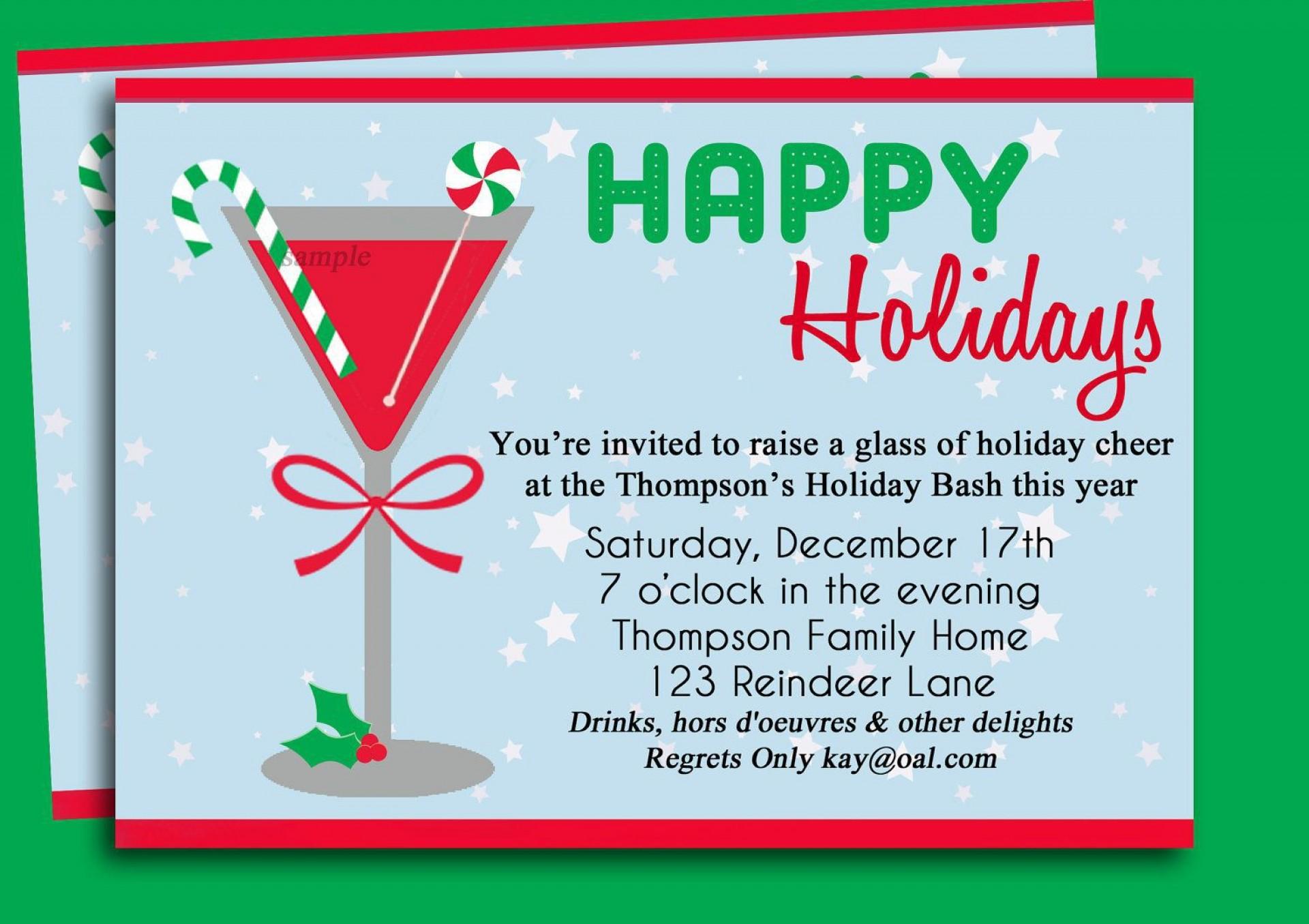 002 Impressive Holiday Open House Invitation Template High Resolution  Christma Free Printable Wording Idea1920