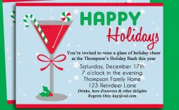 002 Impressive Holiday Open House Invitation Template High Resolution  Christma Free Printable Wording Idea