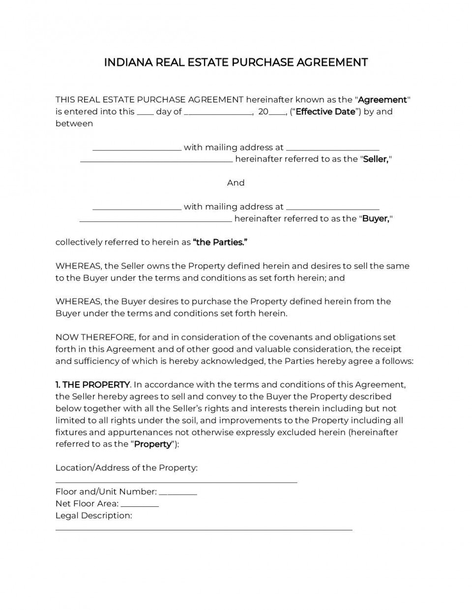 002 Impressive Home Purchase Agreement Template Michigan High Definition 960