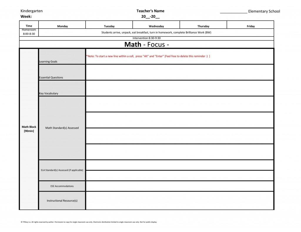 002 Impressive Lesson Plan Template For Kindergarten Common Core Photo Large