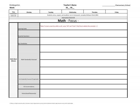 002 Impressive Lesson Plan Template For Kindergarten Common Core Photo 480