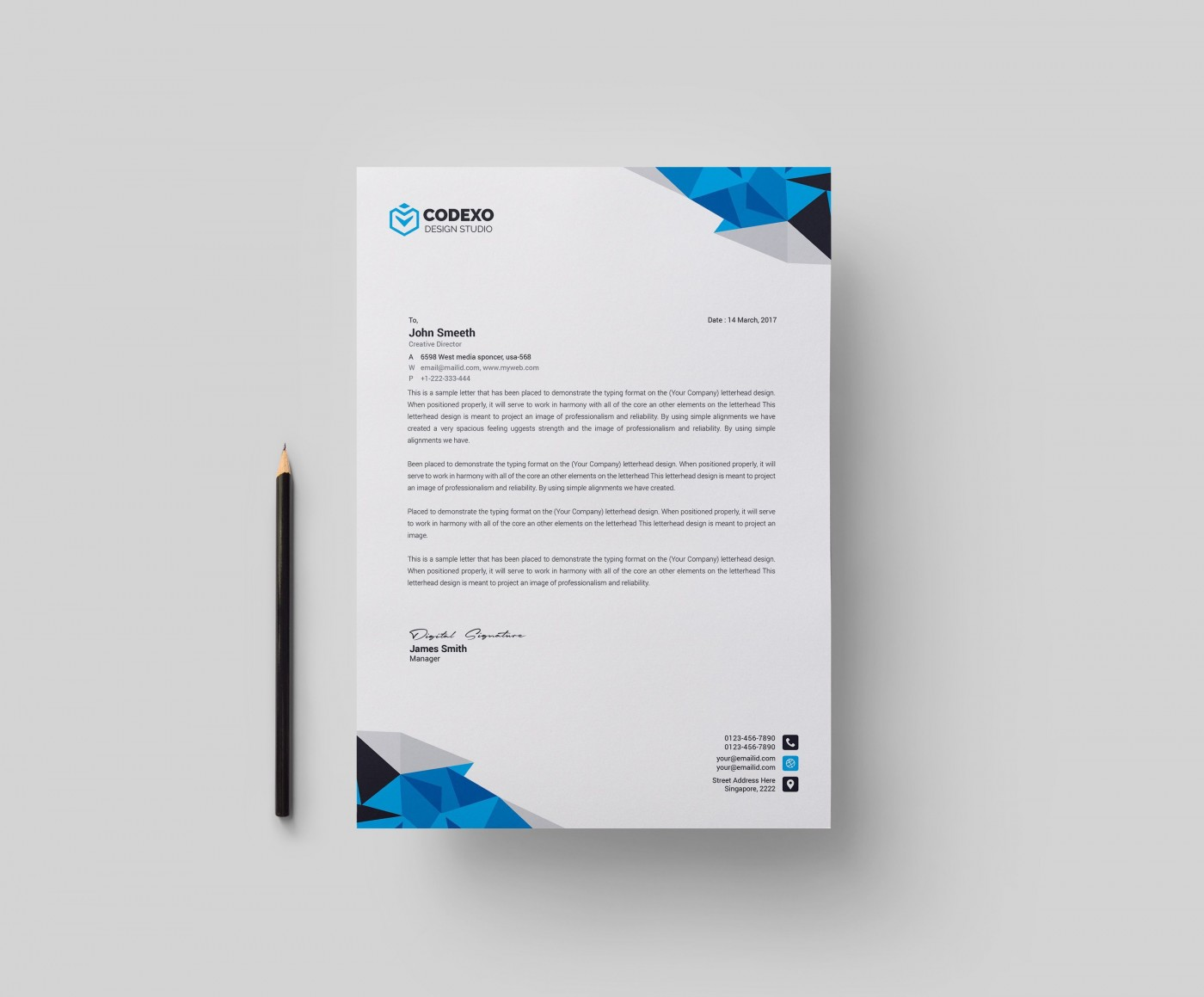 002 Impressive Letterhead Template Free Download Ai Picture  File1400