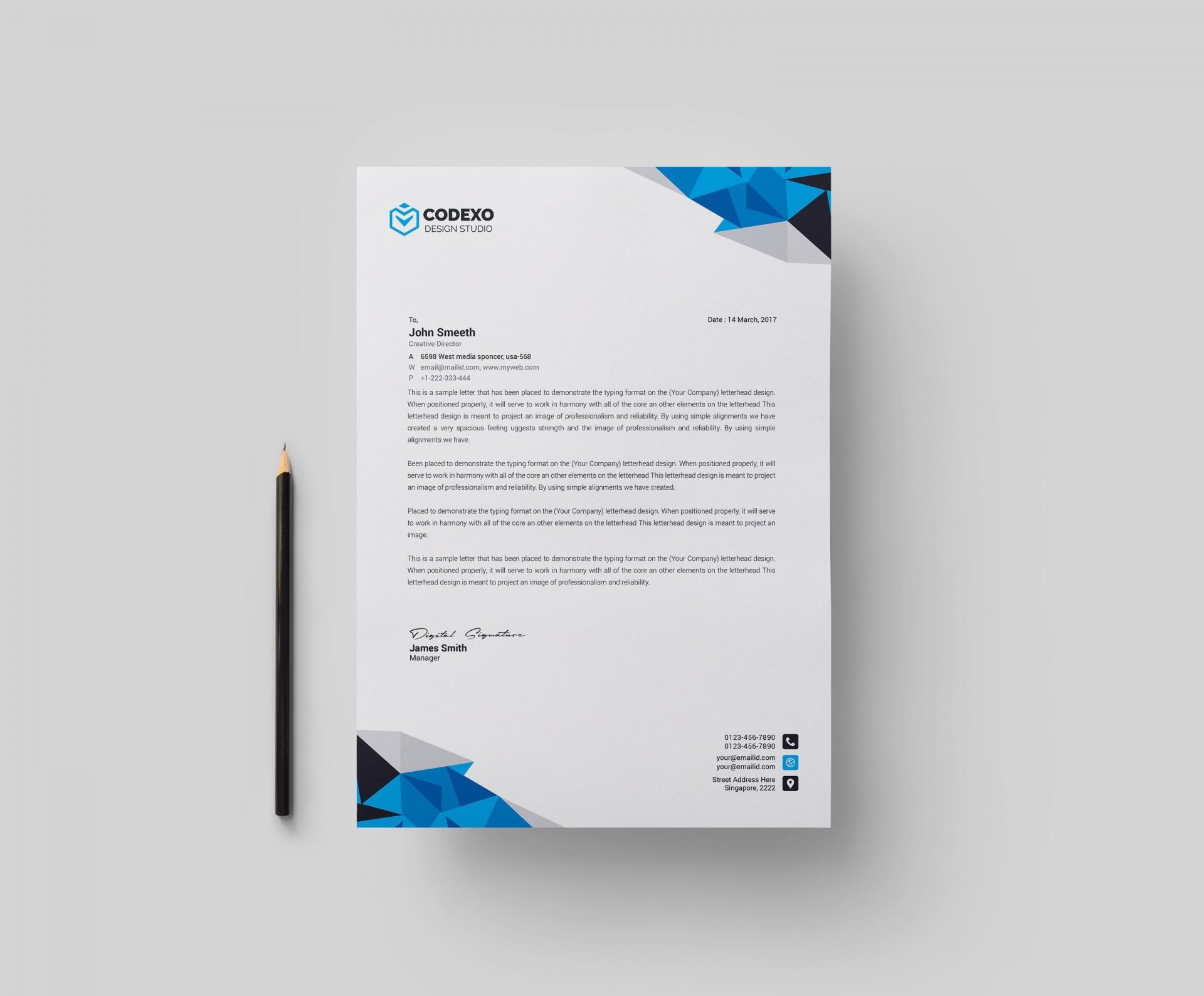 002 Impressive Letterhead Template Free Download Ai Picture  File1920
