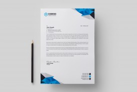 002 Impressive Letterhead Template Free Download Ai Picture  File