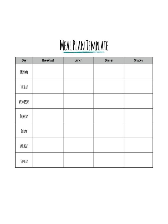 002 Impressive Meal Plan Printable Pdf High Def  Worksheet Downloadable Template SheetLarge