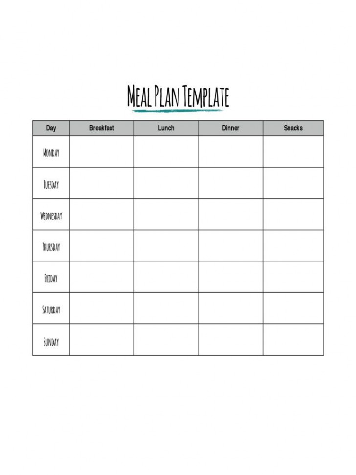 002 Impressive Meal Plan Printable Pdf High Def  Worksheet Downloadable Template Sheet728