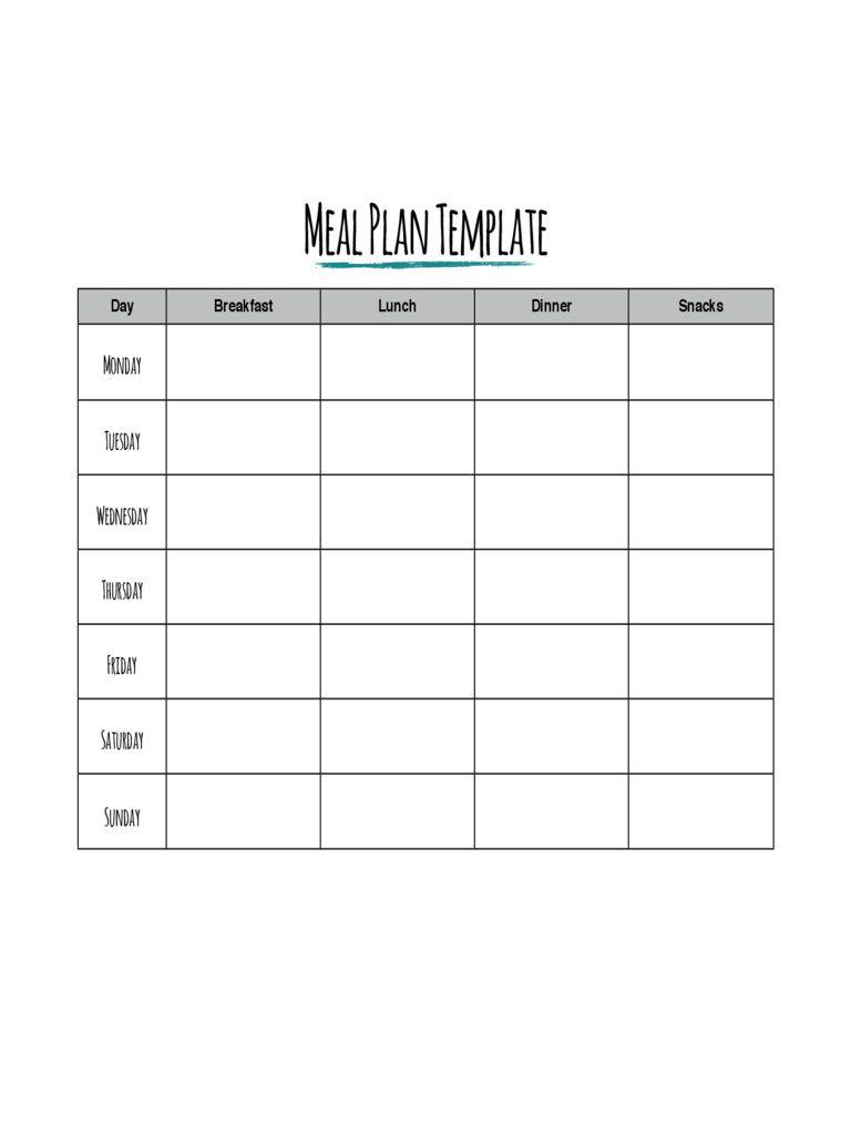 002 Impressive Meal Plan Printable Pdf High Def  Worksheet Downloadable Template SheetFull