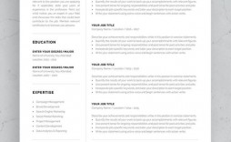 002 Impressive One Page Resume Template Photo  Templates Microsoft Word Free