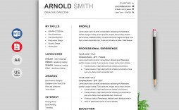 002 Impressive Professional Resume Template Word Free Download High Def  Cv 2020 With Photo