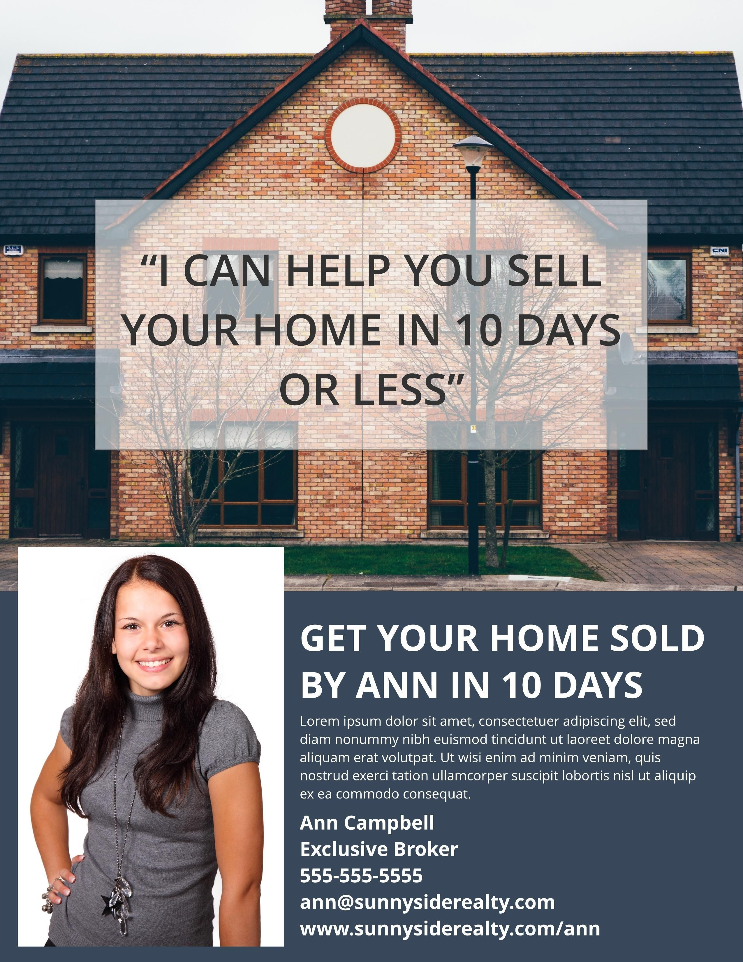 002 Impressive Real Estate Marketing Flyer Template Free Picture Full