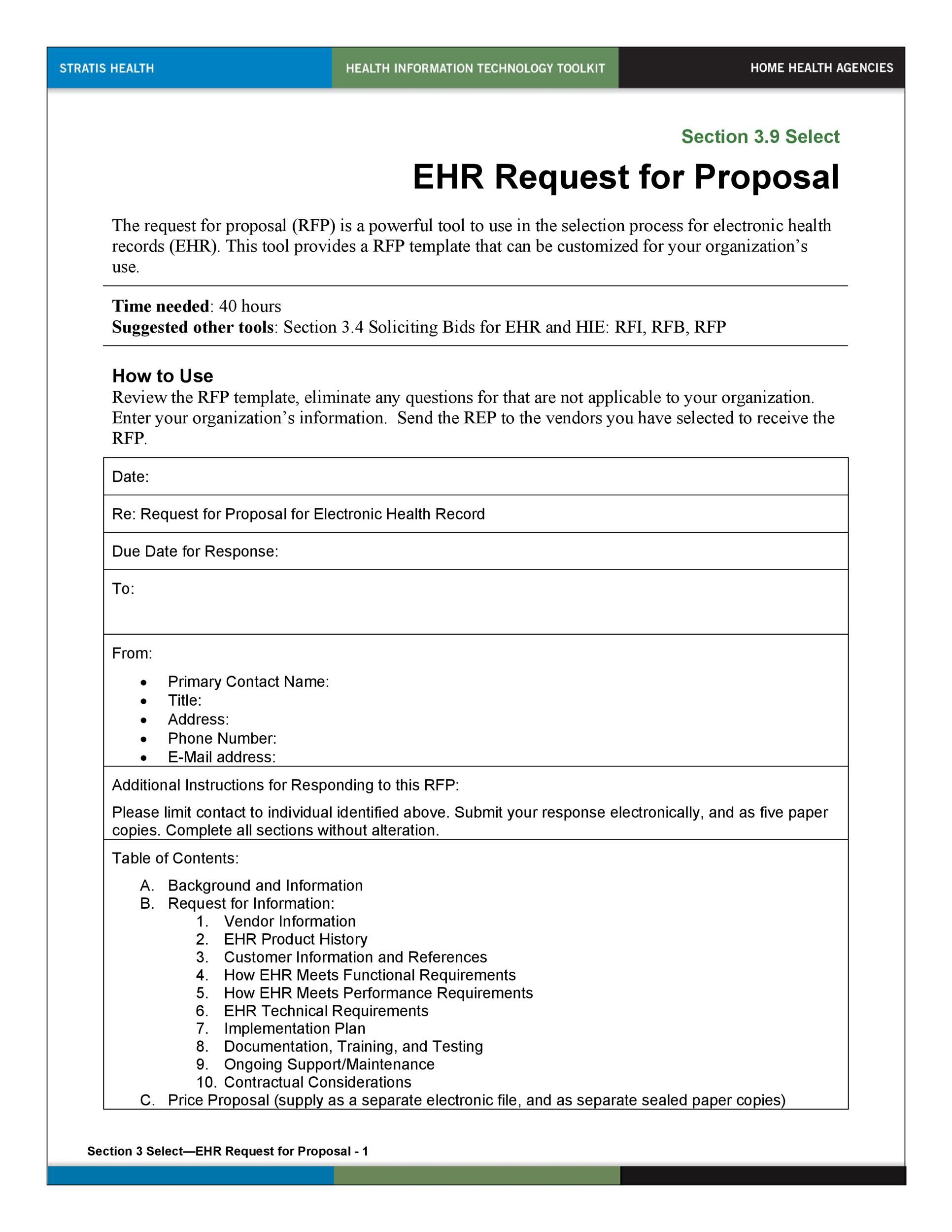 002 Impressive Request For Proposal Response Word Template Concept Full