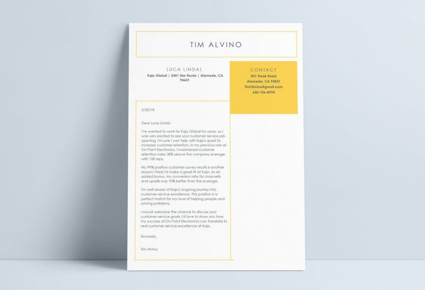 002 Impressive Resume Cover Letter Template Word Free Example
