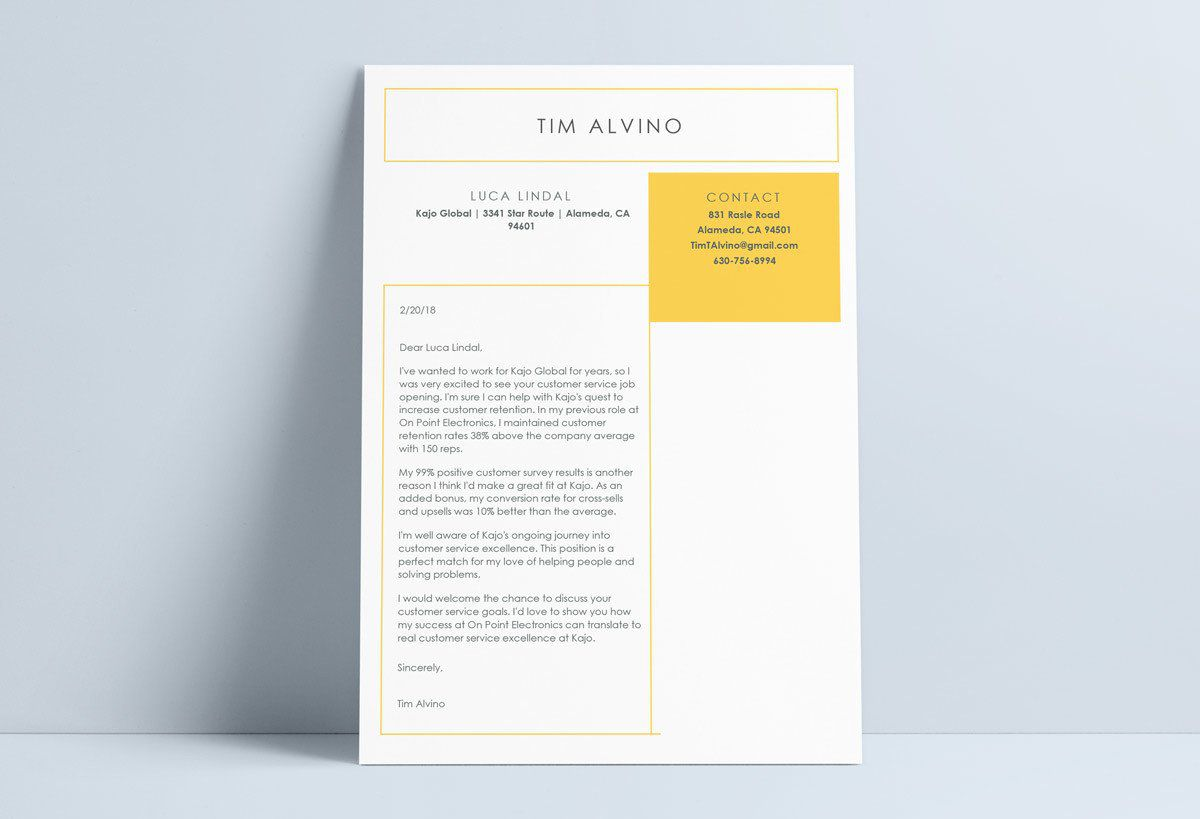 002 Impressive Resume Cover Letter Template Word Free Example Full