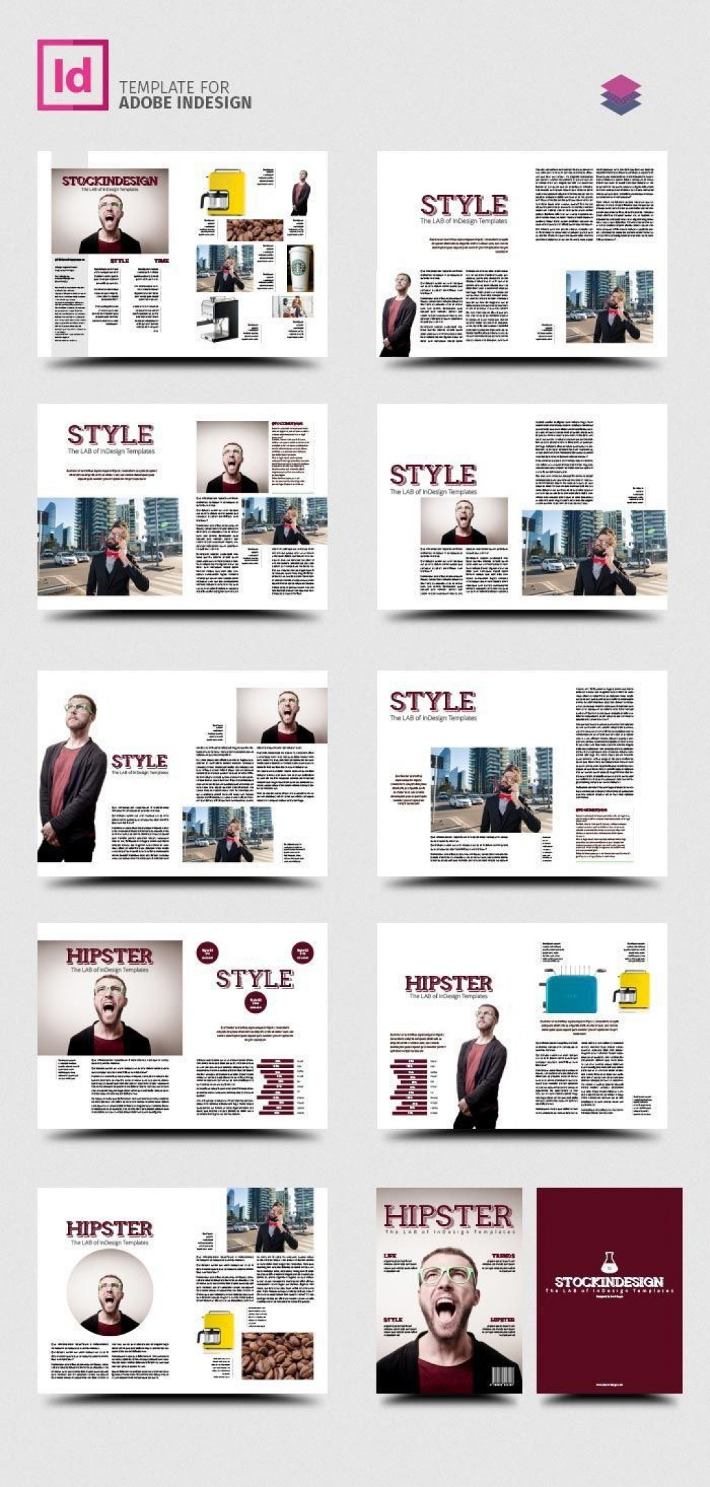 002 Impressive School Magazine Layout Template Free Download Picture Large